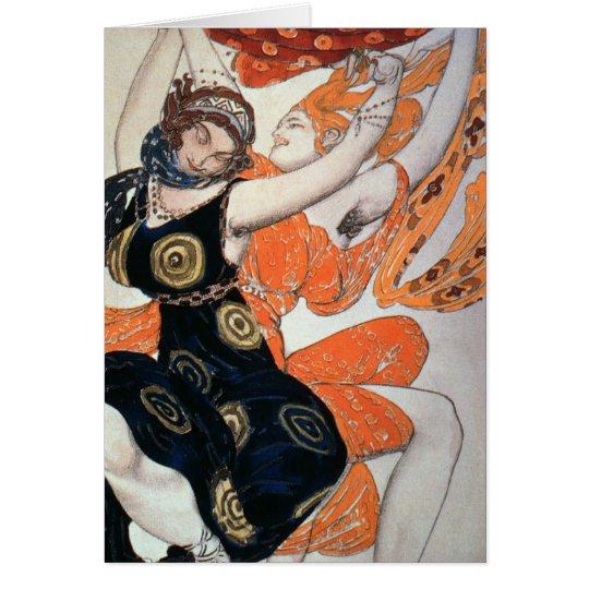Opernkostümentwürfe, 1911 grußkarte