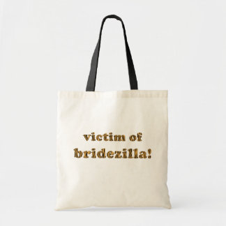 Opfer von Bridezilla Spaß-Zitat Tigerprint Tasche