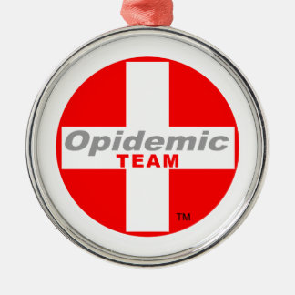 Opidemic Team Silbernes Ornament