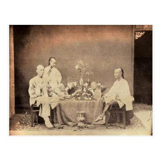 Opium-Raucher in der China Postkarte