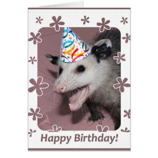 Opossumgeburtstagskarte Grußkarte