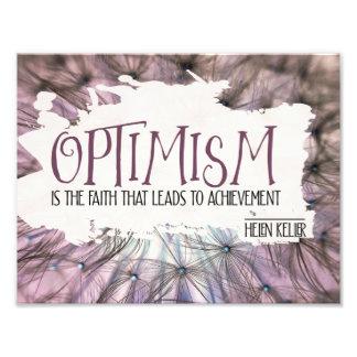 Optimismus Fotodruck