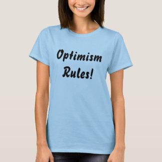 Optimismus ordnet Shirts an