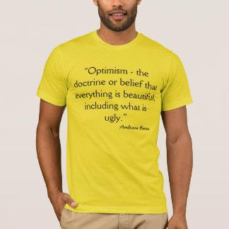 Optimismus-zynische Definition durch Bierce T-Shirt