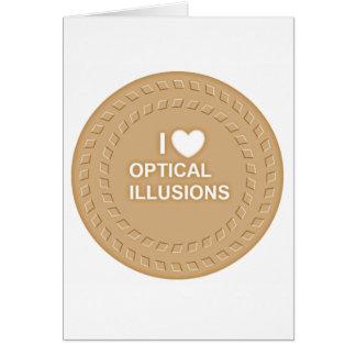 Optische Täuschung! Arbeiten sehr gut Karte