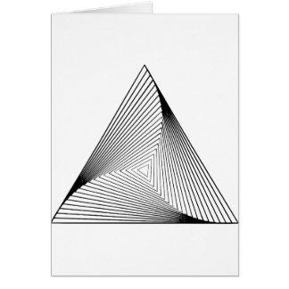 optische Täuschung des Dreieck-3d Karte
