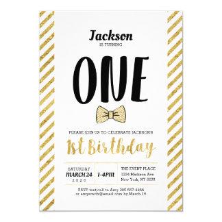 Or, invitation d'anniversaire de garçon de la
