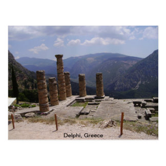 """Oracle von Delphi "" Postkarte"