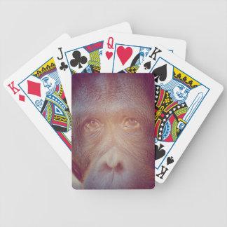 Orang-Utan trauriges Gesicht Bicycle Spielkarten