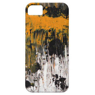 Orange abstract art painting phone case