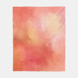 Orange abstrakte Fleece-Decke Fleecedecke