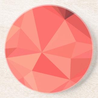 Orange abstrakter niedriger Polygon-Hintergrund Untersetzer