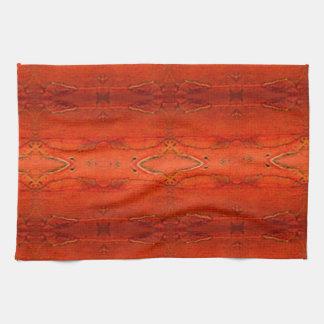 Orange aztekisches Muster Küchentuch