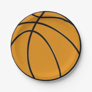 """Orange Basketball 7"""" PapierTeller"""
