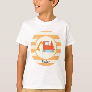 Orange Bau-Spielzeug-Löffelbagger T-Shirt
