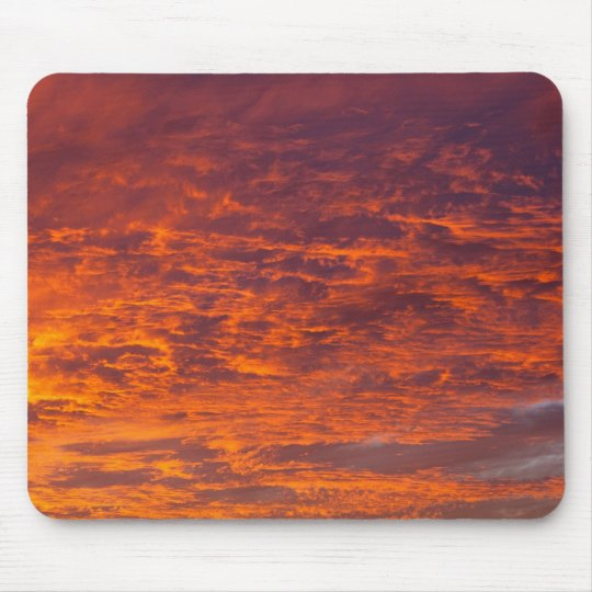 Orange bewölkt mousepad