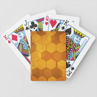 Orange Bienenwabenhexagonmuster Spielkarten