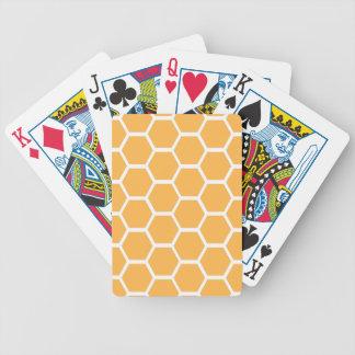 Orange Bienenwabenmuster Poker Karten