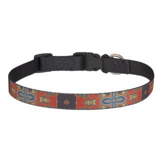 Orange Blau und Brown-Entwurfs-Hundehalsband Haustierhalsband
