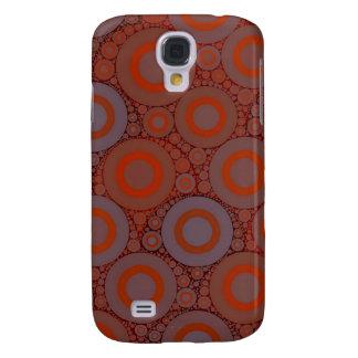 Orange blauer Kreis abstrakt Galaxy S4 Hülle