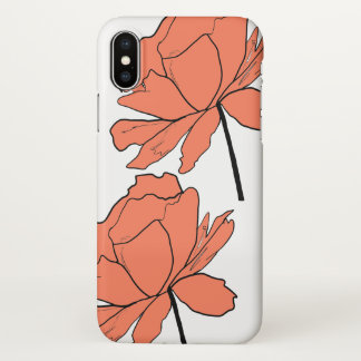 Orange Blume iPhone X Kasten iPhone X Hülle