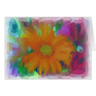 Orange Blume Karte