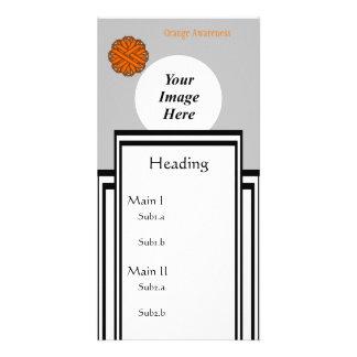 Orange Blumen-Band-Schablone Karte