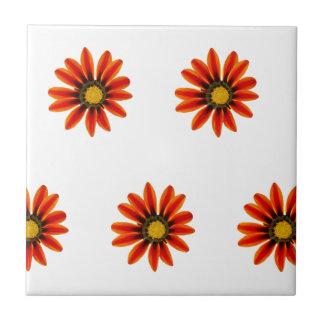 Orange Blumen-Muster Kleine Quadratische Fliese