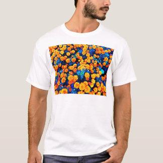 Orange Blumen T-Shirt