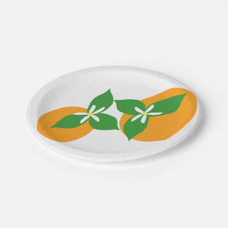 Orange Blüte Pappteller 17,8 Cm