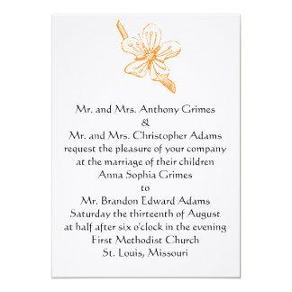 Orange Blüten-12x18 Einladung