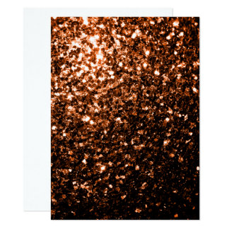 Orange Brown-Glitter-Glitzern Bronzeeinladung Karte