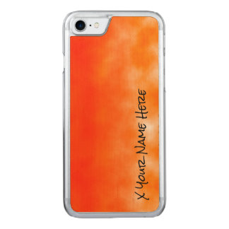 Orange chemischer Glühen-Neonblick 2 Carved iPhone 7 Hülle