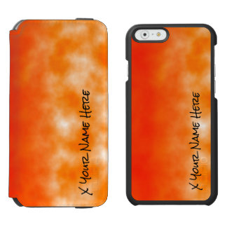 Orange chemischer Glühen-Neonblick 2 Incipio Watson™ iPhone 6 Geldbörsen Hülle