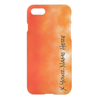 Orange chemischer Glühen-Neonblick 2 iPhone 7 Hülle