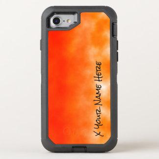 Orange chemischer Glühen-Neonblick 2 OtterBox Defender iPhone 7 Hülle