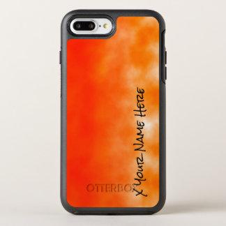 Orange chemischer Glühen-Neonblick 2 OtterBox Symmetry iPhone 7 Plus Hülle