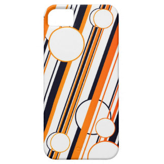 Orange Circle and Stripes graphics IPhone 5 Cover