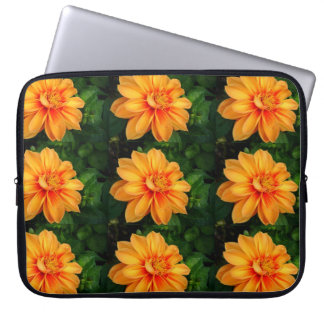 Orange Dahlie-Foto-Elektronik-Tasche Laptopschutzhülle