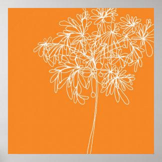 Orange de bruit de fleur poster