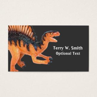 Orange Dinosaurier-Visitenkarte Visitenkarte