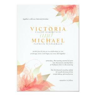 Orange Eis-metallische weiße Hochzeits-Einladungen Einladung