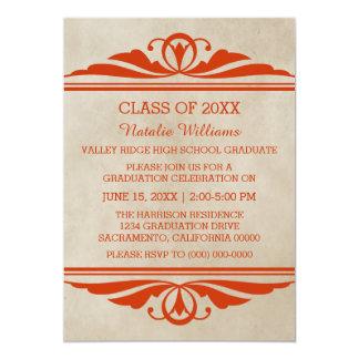 Orange eleganter Deko-Abschluss laden ein 12,7 X 17,8 Cm Einladungskarte