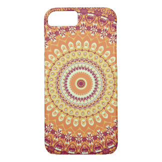 Orange Eleganz-Mandala-Kaleidoskop iPhone 6 Kasten iPhone 8/7 Hülle