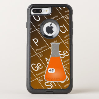 Orange Erlenmeyer-Kolben (mit Initialen) Chemie