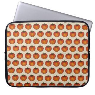Orange Ernte-Kürbis-Halloween-Erntedank-Fall Laptop Sleeve