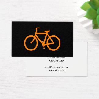 Orange Fahrrad Visitenkarte