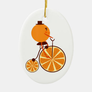 Orange Fahrt Keramik Ornament
