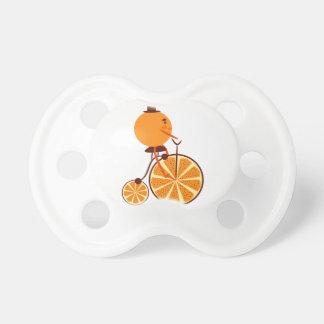 Orange Fahrt Schnuller