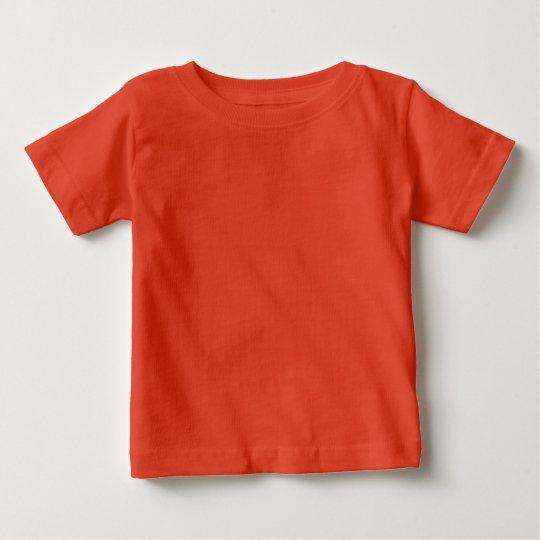 Orange feiner Jersey-Baby-T - Shirt